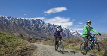 Winter Biking Kawarau River Track Lower Credit Esther Small