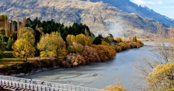 Tour De Wakatipu race in Autumn