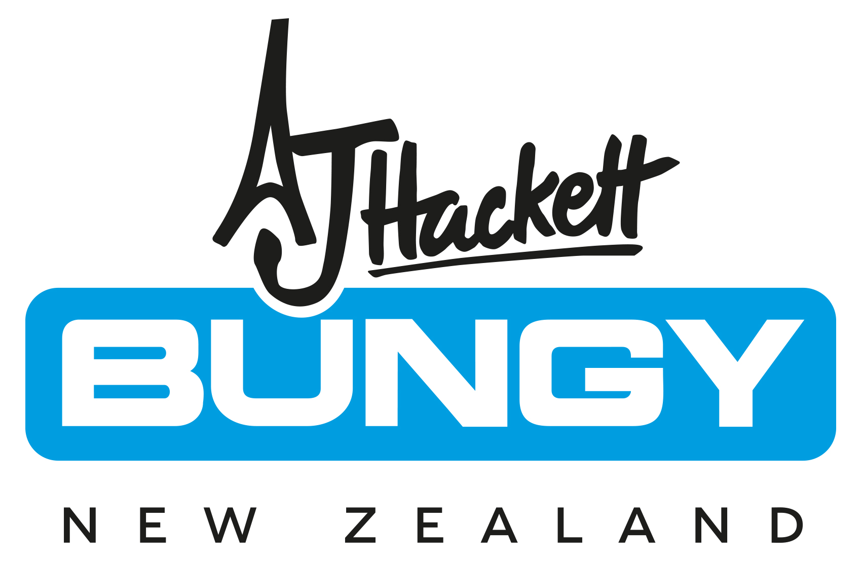 AJHackett ColourLogo print